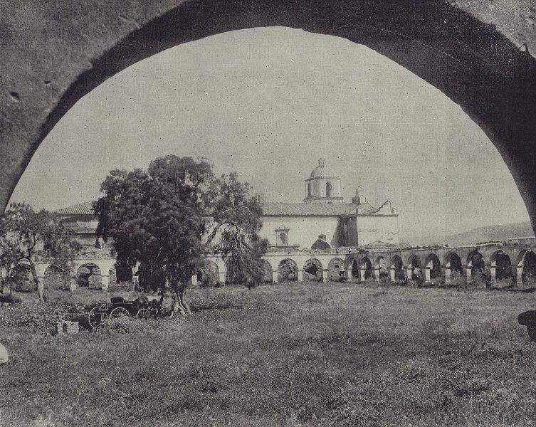 Mission San Luis Rey de Francia, Oceanside, California. STODDARD 1895 print