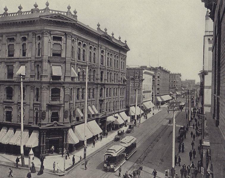 The City of Denver. Colorado. STODDARD 1895 old antique vintage print picture