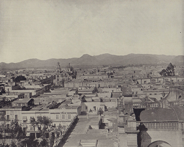Mexico City. STODDARD 1895 old antique vintage print picture