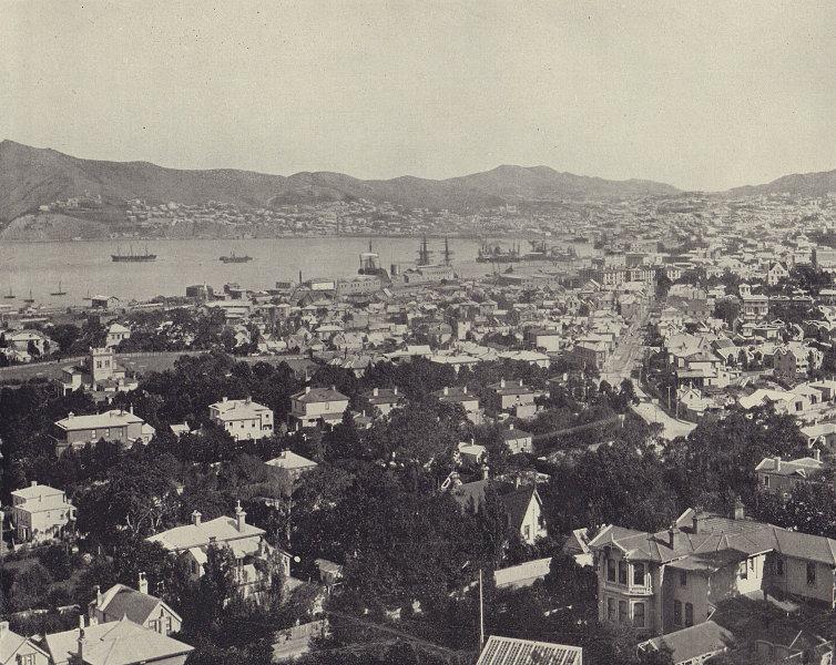 Wellington, New Zealand. STODDARD 1895 old antique vintage print picture