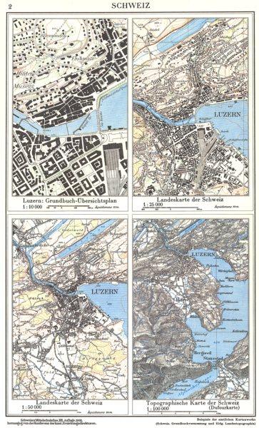 Associate Product SWITZERLAND.Schweiz;Luzern;Landeskarte;Topographische(Dufourkarte) 1958 map