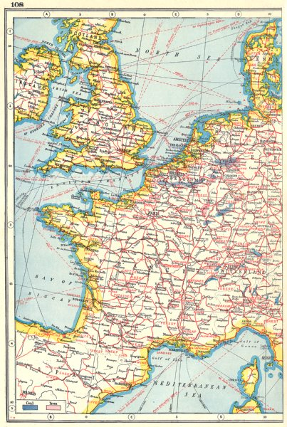 Map Of Uk In Europe.Western Europe Agricultural Industrial Products France Uk Benelux