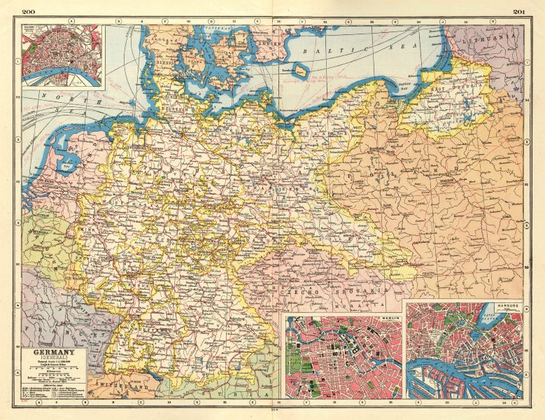 Cologne On Map Of Germany.Details About Germany Inset Town Plans Of Cologne Koln Berlin Hamburg Railways 1920 Map