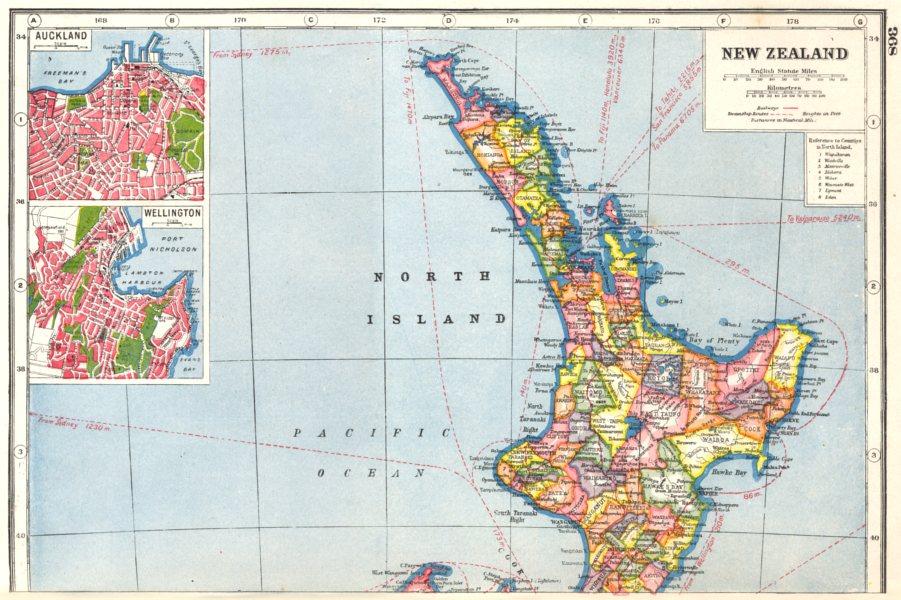 Map Wellington New Zealand.New Zealand North Island Inset Plans Of Auckland Wellington