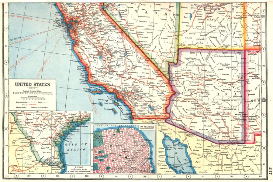 Map Of Arizona And California | compressportnederland