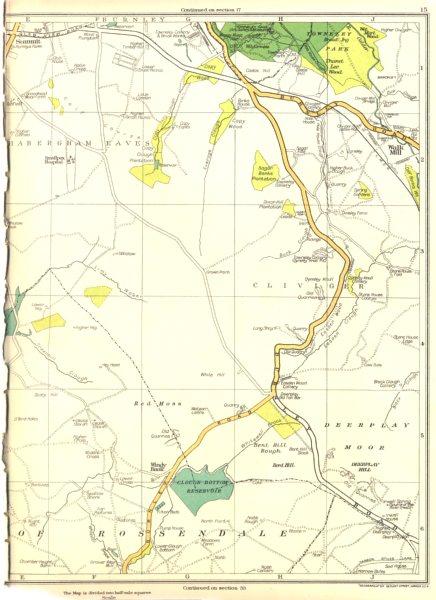 Associate Product LANCASHIRE.Rossendale,Walk Mill,Summit,Red Moss,Deerplay Moor 1935 old map