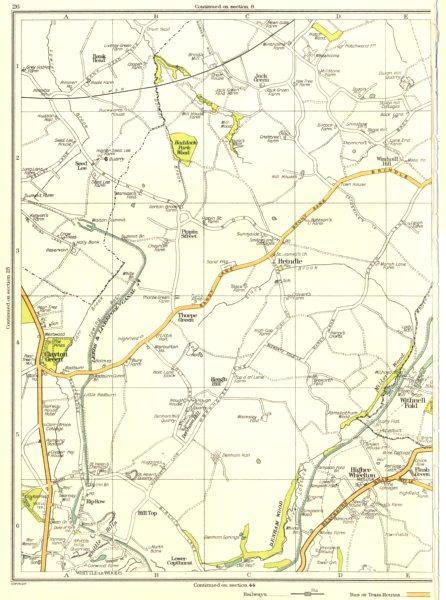 Associate Product LANCS.Clayton Green,Haddock Park Wood,Pippin Street,Brindle,Thorpe 1935 map