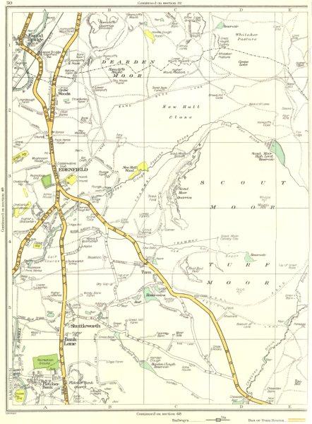 Associate Product LANCASHIRE.Bank Lane,Shuttleworth,Edenfield,Ewood Bridge,Fletcher bank 1935 map