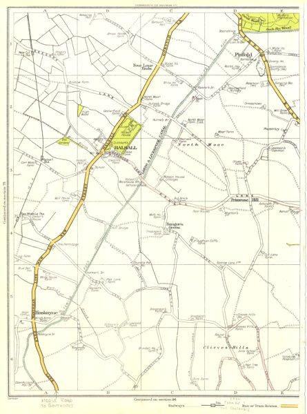 Associate Product LANCS.Pinfold,Halsall,Bangor's Green,Haskayne,Clieves Hills,Primrose 1935 map