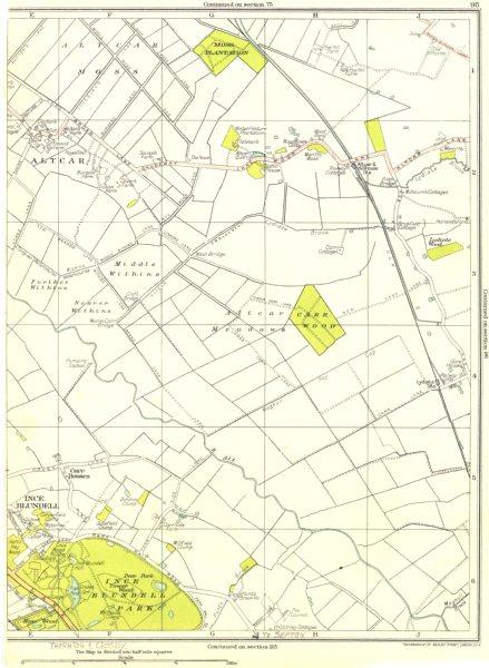 Associate Product LANCASHIRE.Ince Blundell Park,Altcar,Altcar Moss,Carr Houses,Carr Wood 1935 map