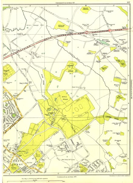 Associate Product LIVERPOOL.Norris Green,West Derby,Mullwood,Craven,Dog And Gun 1935 old map