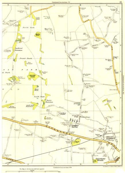 Associate Product LANCS.Lingley Green,Great Sankey,Greystone Heath,South Park 1935 old map