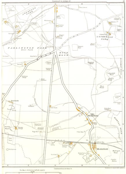 Associate Product YORKSHIRE.Aberford Park,Lotherton Hall,Old Micklefield,Brierlands 1935 map