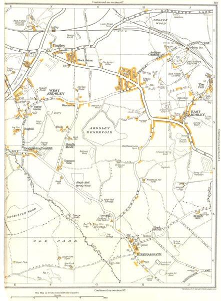 YORKSHIRE.Kirkhamgate,West East Ardsley,Thorpe Wood,Beggarington Hill 1935 map