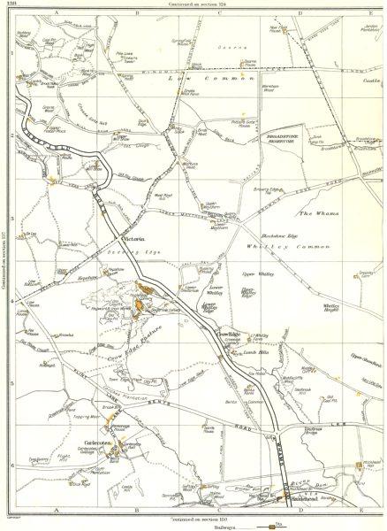YORKSHIRE.Carlecotes,Crow Edge,Whams,Victoria,Birds Edge,Maythorn 1935 old map
