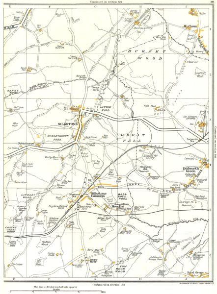 Associate Product DODWORTH GREEN.Silkstone Common,Lindley,Higham,Noblethorpe,Cawthorne 1935 map