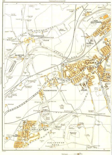 DONCASTER.Warmsworth,Edlington,Hexthorpe,Bungalows,Spotbrough,Balby 1935 map