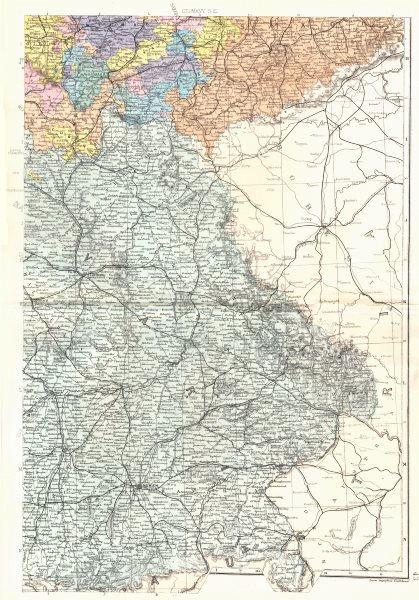 Associate Product BAVARIA. German Empire South East. Bavaria Munich Nurnberg. Bacon 1895 old map
