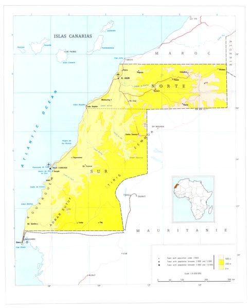 Associate Product WESTERN SAHARA. Rio de Oro. Morocco 1973 old vintage map plan chart