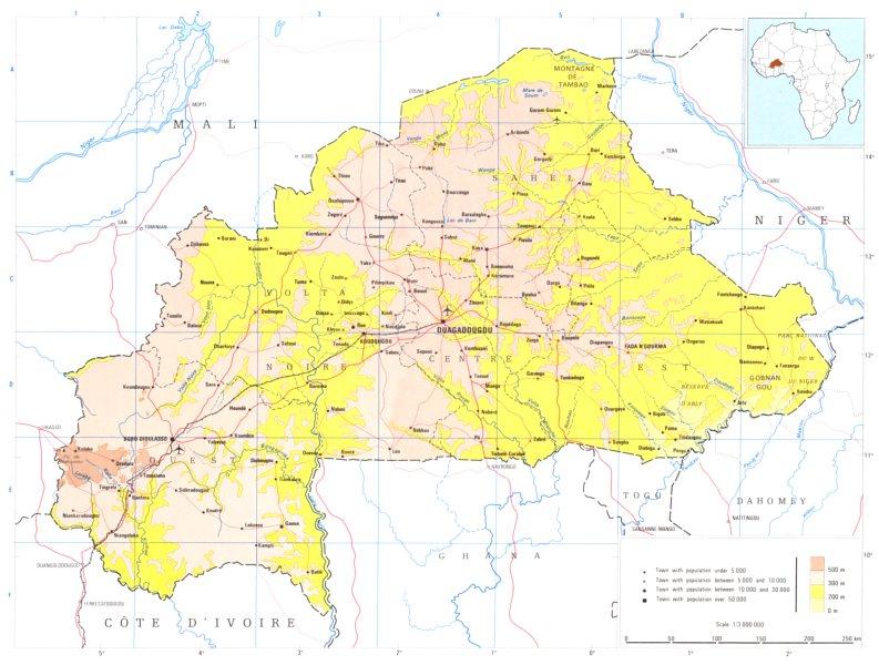 Associate Product BURKINA FASO. Upper Volta; Republic of upper Volta 1973 old vintage map chart