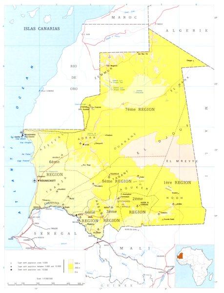 Associate Product MAURITANIA. Mauritania; Islamic Republic of Mauritania 1973 old vintage map