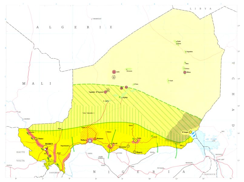 Associate Product NIGER. Economy industry trade farming agriculture resources 1973 old map