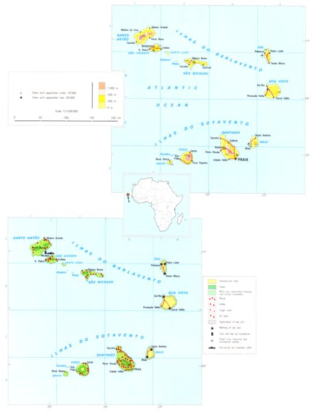 Associate Product CAPE VERDE ISLANDS. Economy industry trade farming agriculture 1973 old map