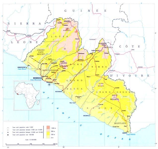 Associate Product LIBERIA. Liberia; Republic of Liberia 1973 old vintage map plan chart