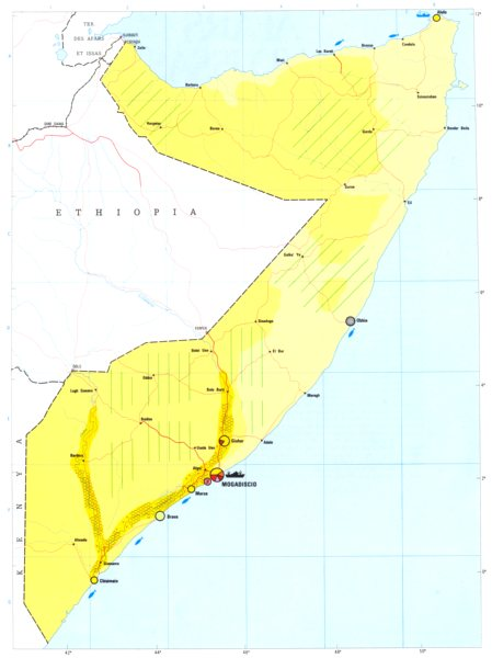 Associate Product SOMALIA. Economy industry trade farming agriculture resources 1973 old map
