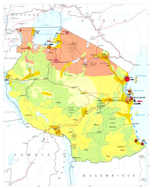 Associate Product TANZANIA. Economy industry trade farming agriculture resources 1973 old map