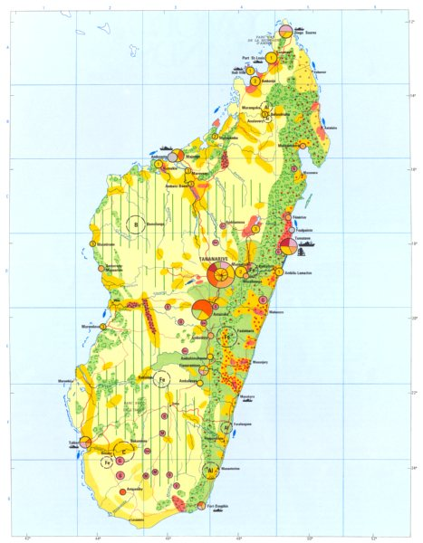 Associate Product MADAGASCAR. Economy industry trade farming agriculture resources 1973 old map