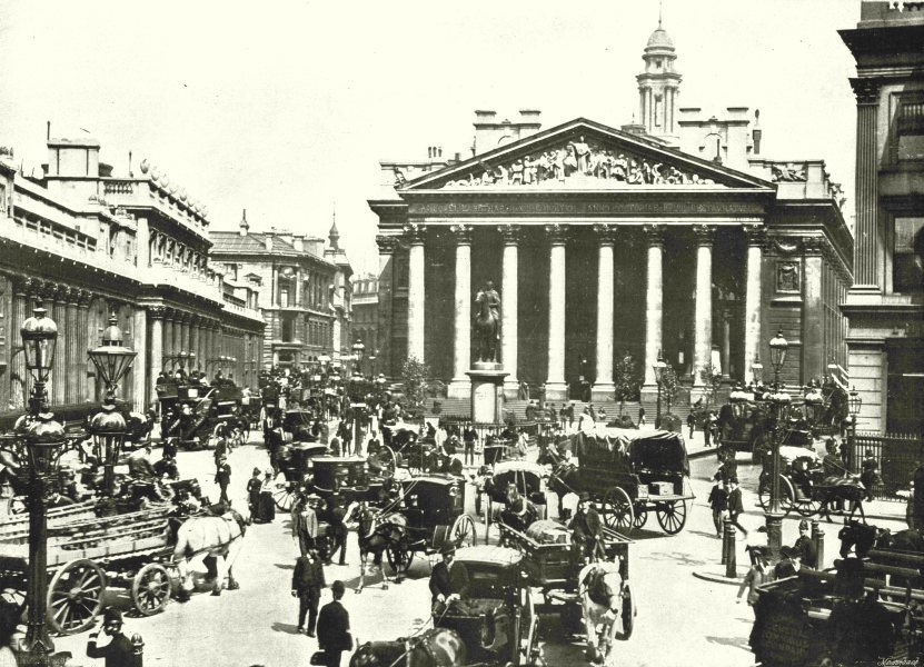 Associate Product LONDON. The Royal Exchange- The Busiest spot in the World 1896 old print