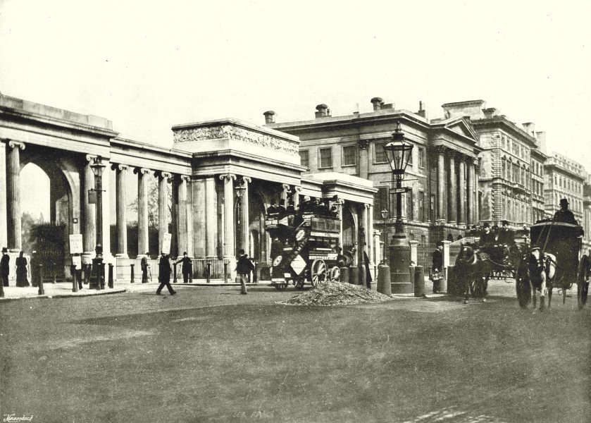Associate Product LONDON. Hyde Park Corner- St George's Hospital, Apsley House Piccadilly 1896
