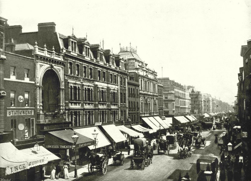 Associate Product LONDON. Oxford Street- Near the Princesss Theatre 1896 old antique print