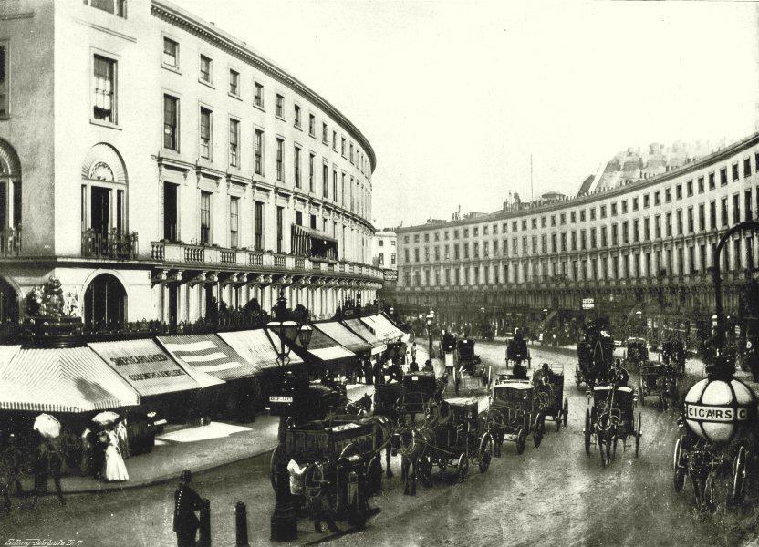Associate Product LONDON. Regent Street- The Quadrant 1896 old antique vintage print picture