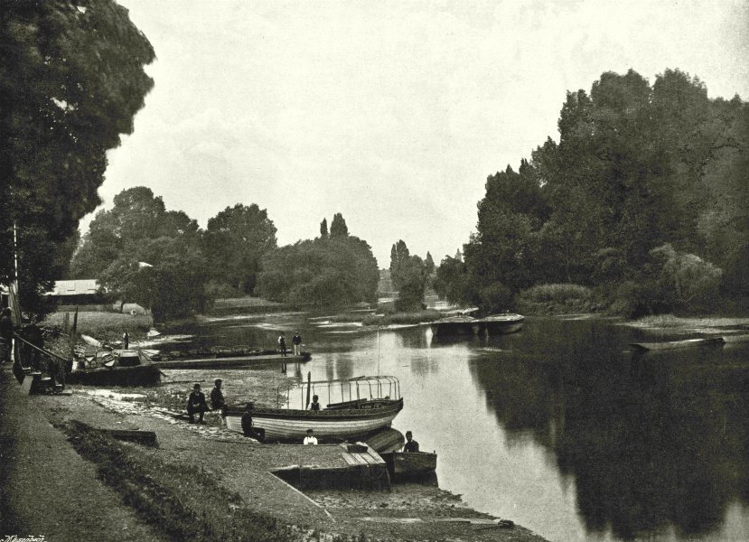 Associate Product LONDON. Isleworth- The Thames at Isleworth 1896 old antique print picture