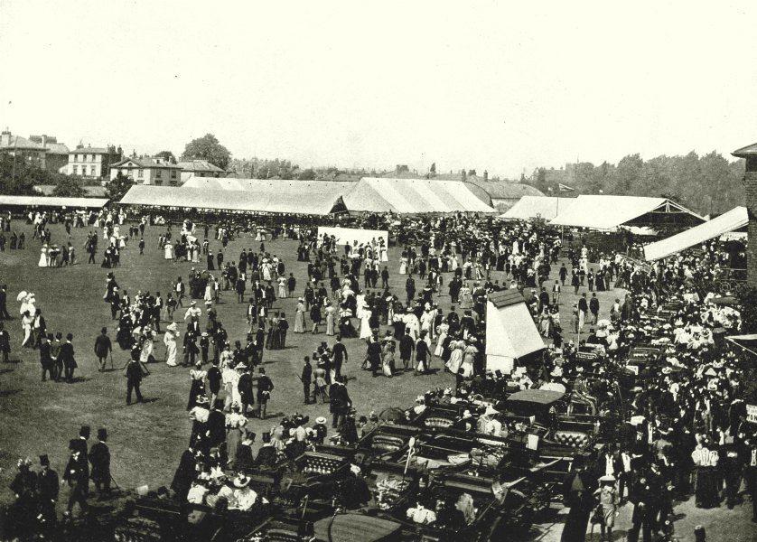 Associate Product LONDON. Lord's Cricket Ground- Luncheon Interval Eton Harrow Match 1896 print
