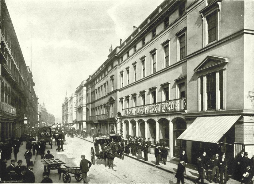 Caption Below Picture Moorgate Street Looking Towards London Wall