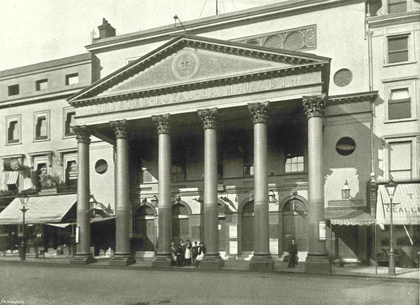 Associate Product LONDON. Haymarket Theatre- The Haymarket Theatre 1896 old antique print