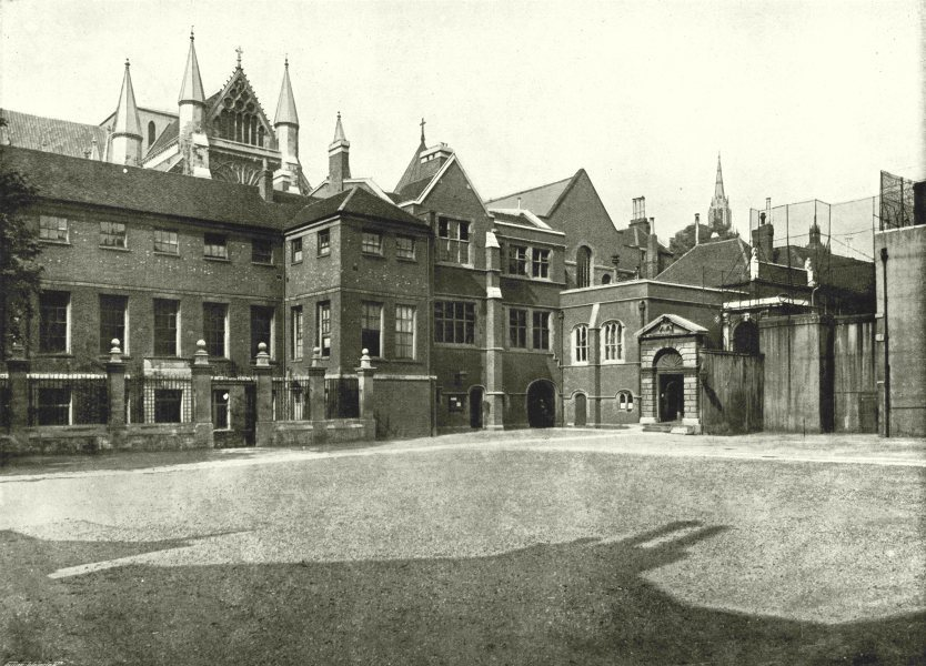 Associate Product LONDON. Westminster School- General view of the Buildings 1896 old print