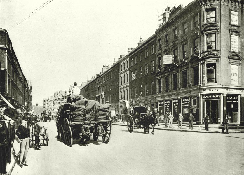 Associate Product LONDON. Finsbury Pavement- Looking towards Finsbury square 1896 old print