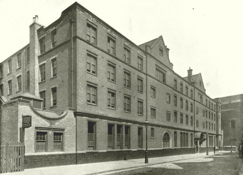 Associate Product LONDON. Parker Street- One of the London County Council Lodging- Houses 1896