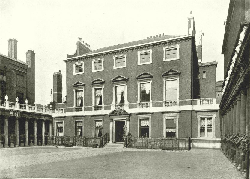 Associate Product LONDON. Chesterfield House- From the South Audley street gate 1896 old print