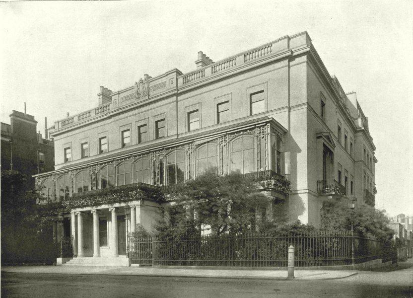 Associate Product LONDON. Park Lane- Dudley House 1896 old antique vintage print picture