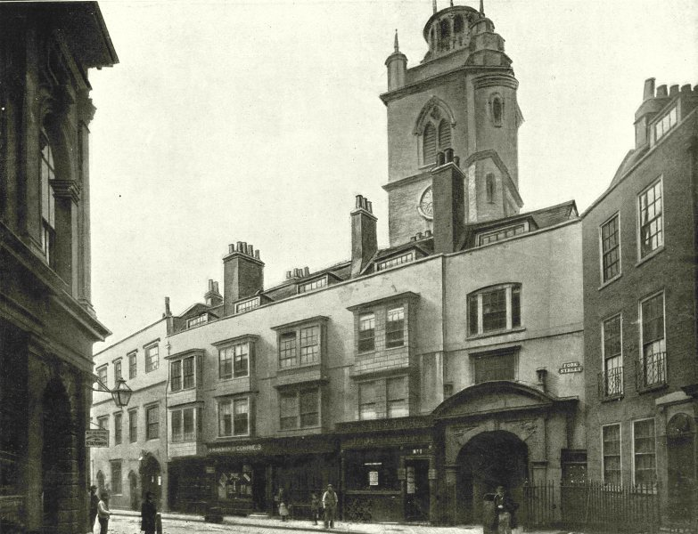 Associate Product LONDON. Fore Street- Tower of Church St Giles, Cripplegate 1896 old print