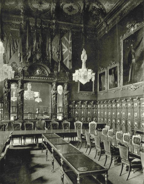 Associate Product LONDON. Ironmongers Hall- The Livery Hall 1896 old antique print picture
