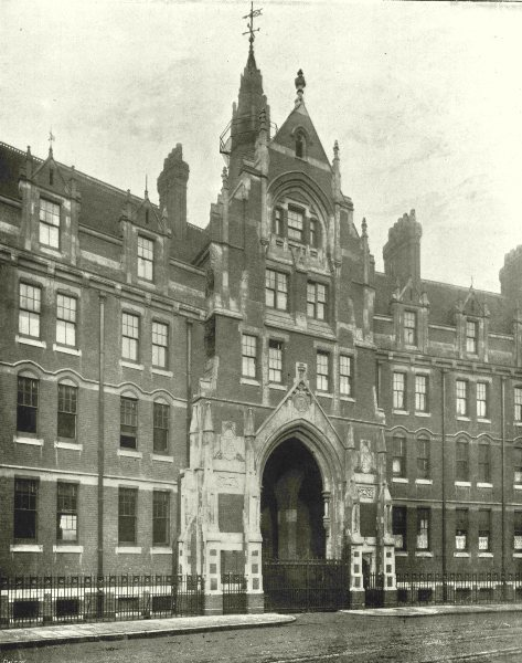 Associate Product LONDON. Southwark Street- HQ of Metropolitan Fire Brigade 1896 old print