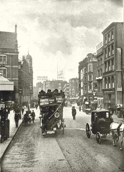 Associate Product LONDON. Bishopsgate (Without) - Looking East from near Liverpool Street 1896