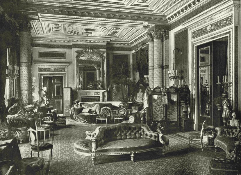 Associate Product LONDON. Marlborough House- The Drawing- room 1896 old antique print picture