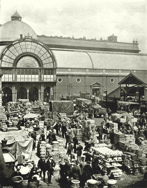 Associate Product LONDON. Covent Garden Market- A Morning scene in the Market 1896 old print